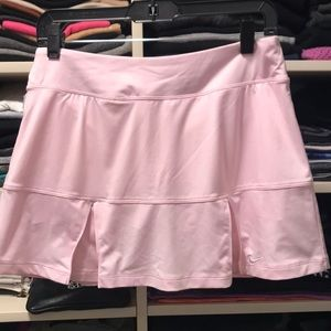 Light pink nike dri-fit tennis skort